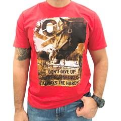 Camiseta Ox Horns Vermelho/ Estampa 1160
