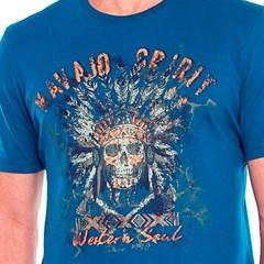 Camiseta Tassa Azul Petróleo/ Estampa 4244.1