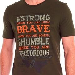 Camiseta Tassa Verde Militar/ Estampa 4360.1