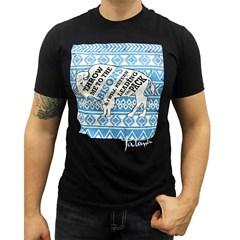 Camiseta Tatanka Preto/Estampa Throw Me