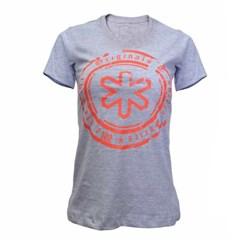 Camiseta Tuff Feminina Cinza Mescla Circular Laranja TS-0563-SILK