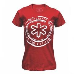 Camiseta Tuff Feminina Vermelho Circular