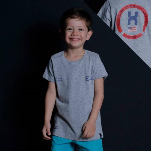 Camiseta TXC Infantil Cinza Mescla 14031L