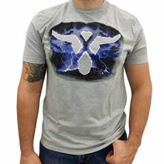 Camiseta Wrangler Cinza Claro/Estampa 71A42N9264