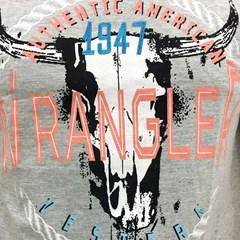 Camiseta Wrangler Cinza Mescla/ Estampa 71A34F9E14