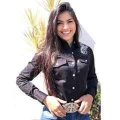 Camisete Apache Preto/ Bordado/ Strass AP09-53