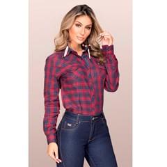 Camisete Buphallos Jeans Xadrez/ Bordada 8168