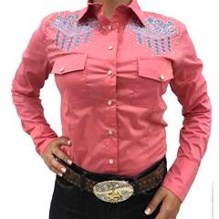 Camisete Miss Country Rosa com Bordado 277