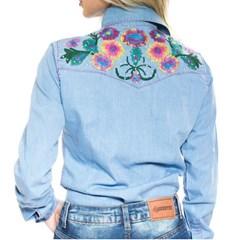 Camisete Miss Country Tenesse Jeans Claro/ Bordado 388
