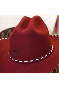 Chapéu Charlie 1 Horse Importado 4x Bucksnort Bordô