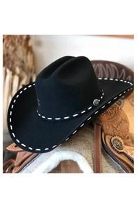 Chapéu Charlie 1 Horse Importado 4x Bucksnort Preto