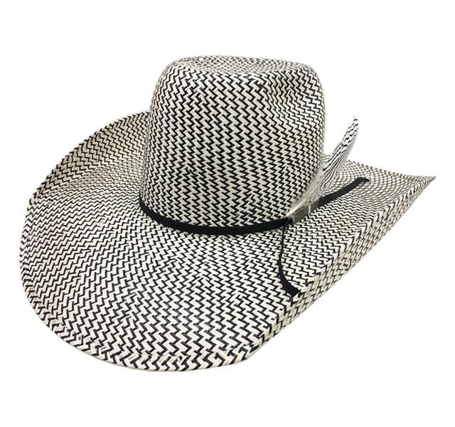 Chapéu Mexican Hats 30X Sanluis Palha Preto/Branco