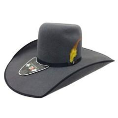 Chapéu Mexican Hats Monterrey Cinza com viés Preto 412