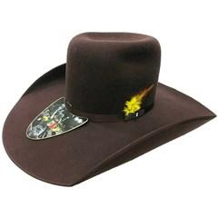 Chapéu Mexican Hats Monterrey Marrom com viés 412