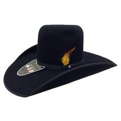 Chapéu Mexican Hats Monterrey Preto com viés 412