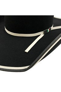 Chapéu Mexican Hats Sanluis Preto Viés Duplo 447