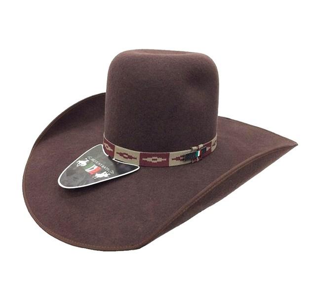 9977f8b222435 Chapéu Mexican Hats Tijuana II Marrom com viés 414 - Crisecia