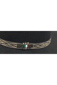 Chapéu Mexican Hats Tijuana II Preto com viés 414
