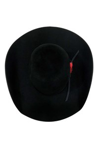 Chapéu Resistol 7x - Chute 5 Long Oval Preto c/ Viés Preto