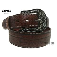 Cinto Arizona Belts Couro Corrugado Havana 7044
