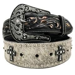 Cinto Arizona Belts Couro/Pelo 7115