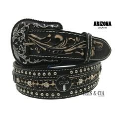 Cinto Arizona Belts Couro Preto 7075
