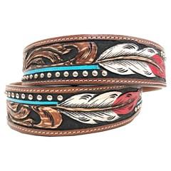 Cinto Arizona Belts Entalhado c/ Rebites 7118