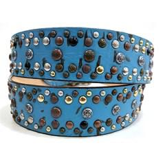 Cinto Paul Western c/ Rebites 433 - 2 Azul