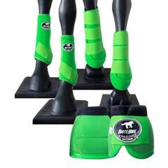 Conjunto Completo Ventrix Boots Horse BH-03 Verde Limão - Caneleira/Cloche/Skid Boots