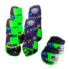 Conjunto Completo Ventrix Boots Horse BH5309 Caneleira/Cloche/Skid Boots