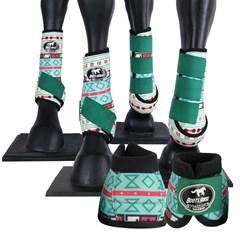 Conjunto Completo Ventrix Boots Horse BH5326 Caneleira/Cloche/Skid Boots