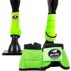 Conjunto Ventrix Caneleira/Cloche Verde Limão/Preto Boots Horse KV-43 BH-01
