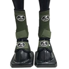 Conjunto Ventrix Caneleira/Cloche Verde Militar Boots Horse KV-43 BH-01