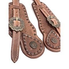 Correia de Espora Boots Horse Marrom Claro/Fivela Envelhecida 7040
