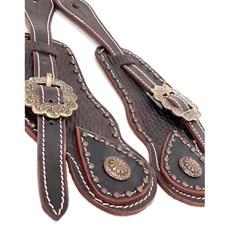 Correia de Espora Boots Horse Marrom Escuro/Fivela Envelhecida 7040