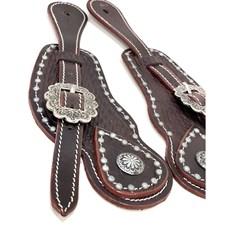 Correia de Espora Boots Horse Marrom Escuro/Fivela Prata 7040