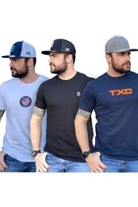 Kit com 3 Camisetas TXC 19618/ 19449/ 19516