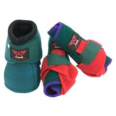 Kit Power Protection Caneleira e Cloche Verde/Vermelho/Roxo
