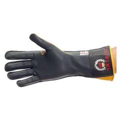 Luva Couro Preta Profissional Mão Esquerda p/ Montaria em Touro - Paul Western LLE23-Preta