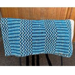 Manta Mustang Estampa Navajo 1422 Azul Claro/ Bege/ Preto