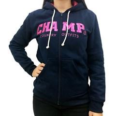 Moletom Champ Azul Marinho/Pink CHP-MF