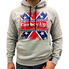 Moletom Cowboy Up Confederados Cinza Mescla