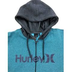 Moletom Hurley Azul Petróleo Mescla/ Chumbo Mescla 636657A