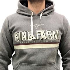 Moletom King Farm Cinza Mescla KFM01