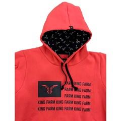 Moletom King Farm Vermelho KFM23
