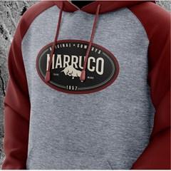 Moletom Marruco Cinza Mescla/Vinho M-0014