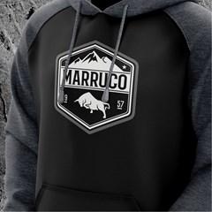Moletom Marruco Preto/Chumbo M-0013