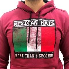 Moletom Mexican Hats Bordô Flag Rustic