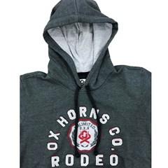 Moletom Ox Horns Chumbo/Bordado 4021