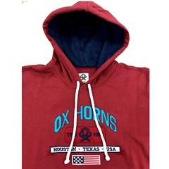 Moletom Ox Horns Vermelho/Bordado 4015